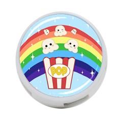 Cute Kawaii Popcorn 4 Port Usb Hub (two Sides)  by Valentinaart