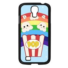 Cute Kawaii Popcorn Samsung Galaxy S4 I9500/ I9505 Case (black) by Valentinaart