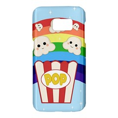 Cute Kawaii Popcorn Samsung Galaxy S7 Hardshell Case  by Valentinaart