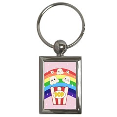 Cute Kawaii Popcorn Key Chains (rectangle)  by Valentinaart
