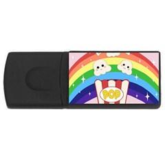 Cute Kawaii Popcorn Rectangular Usb Flash Drive by Valentinaart