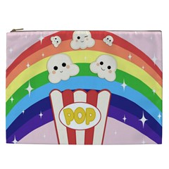Cute Kawaii Popcorn Cosmetic Bag (xxl)  by Valentinaart