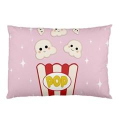 Cute Kawaii Popcorn Pillow Case by Valentinaart