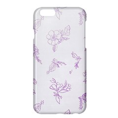 Beautiful,violet,floral,shabby Chic,pattern Apple Iphone 6 Plus/6s Plus Hardshell Case by 8fugoso