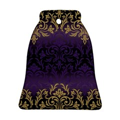 Art Nouveau,vintage,damask,gold,purple,antique,beautiful Bell Ornament (two Sides) by 8fugoso