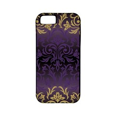 Art Nouveau,vintage,damask,gold,purple,antique,beautiful Apple Iphone 5 Classic Hardshell Case (pc+silicone) by 8fugoso