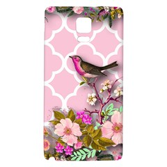 Shabby Chic, Floral,pink,birds,cute,whimsical Galaxy Note 4 Back Case by 8fugoso