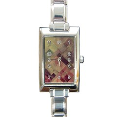 Vintage Style Graphic Print Rectangle Italian Charm Watch by douxsurmoi