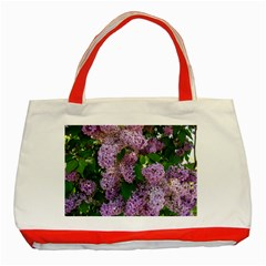 Lilacs 2 Classic Tote Bag (red) by dawnsiegler