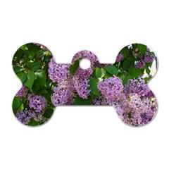 Lilacs 2 Dog Tag Bone (one Side) by dawnsiegler