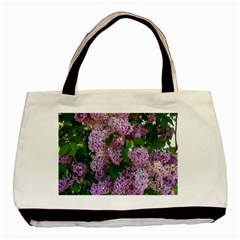 Lilacs 2 Basic Tote Bag (two Sides) by dawnsiegler