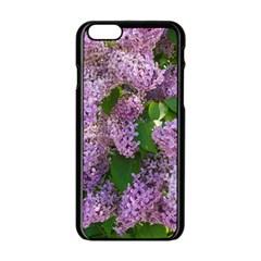 Lilacs 2 Apple Iphone 6/6s Black Enamel Case by dawnsiegler