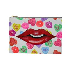 Aahhhh Candy Cosmetic Bag (large)  by dawnsiegler