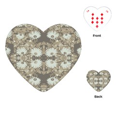 Vintage Daisy Floral Pattern Playing Cards (heart)  by dflcprints