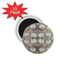 Vintage Daisy Floral Pattern 1 75  Magnets (10 Pack)  by dflcprints