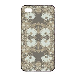 Vintage Daisy Floral Pattern Apple Iphone 4/4s Seamless Case (black) by dflcprints