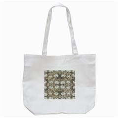 Vintage Daisy Floral Pattern Tote Bag (white) by dflcprints