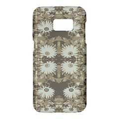 Vintage Daisy Floral Pattern Samsung Galaxy S7 Hardshell Case  by dflcprints