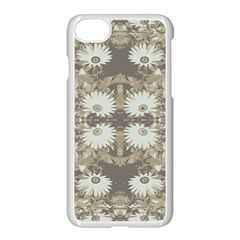 Vintage Daisy Floral Pattern Apple Iphone 7 Seamless Case (white) by dflcprints