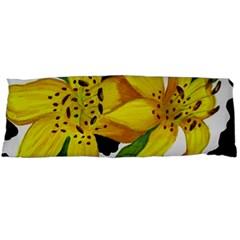 Floral Cow Print Body Pillow Case (dakimakura) by dawnsiegler