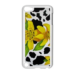 Floral Cow Print Apple Ipod Touch 5 Case (white) by dawnsiegler