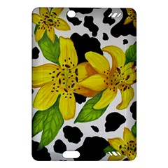 Floral Cow Print Amazon Kindle Fire Hd (2013) Hardshell Case by dawnsiegler