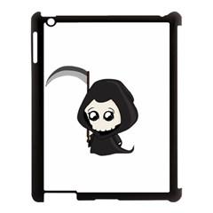 Cute Grim Reaper Apple Ipad 3/4 Case (black) by Valentinaart