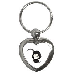 Cute Grim Reaper Key Chains (heart)  by Valentinaart