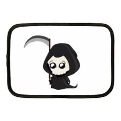 Cute Grim Reaper Netbook Case (medium)  by Valentinaart