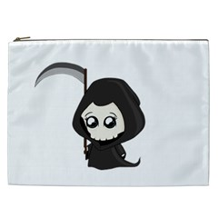 Cute Grim Reaper Cosmetic Bag (xxl)  by Valentinaart