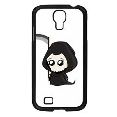 Cute Grim Reaper Samsung Galaxy S4 I9500/ I9505 Case (black) by Valentinaart