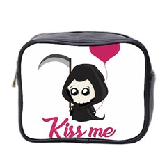Cute Grim Reaper Mini Toiletries Bag 2 Side by Valentinaart