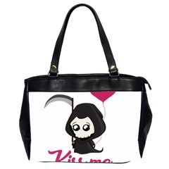 Cute Grim Reaper Office Handbags (2 Sides)  by Valentinaart