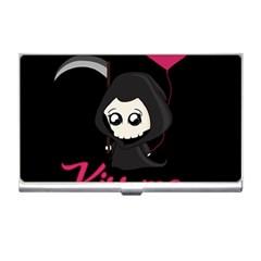Cute Grim Reaper Business Card Holders by Valentinaart