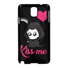 Cute Grim Reaper Samsung Galaxy Note 3 Neo Hardshell Case (black) by Valentinaart