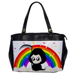 Cute Grim Reaper Office Handbags by Valentinaart