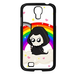 Cute Grim Reaper Samsung Galaxy S4 I9500/ I9505 Case (black) by Valentinaart