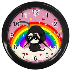 Cute Grim Reaper Wall Clocks (black) by Valentinaart