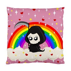 Cute Grim Reaper Standard Cushion Case (one Side) by Valentinaart