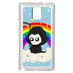 Cute Grim Reaper Samsung Galaxy Note 4 Case (white) by Valentinaart