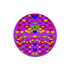 I Love This Lovely Hearty One Rubber Round Coaster (4 Pack)  by pepitasart