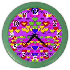 I Love This Lovely Hearty One Color Wall Clocks by pepitasart