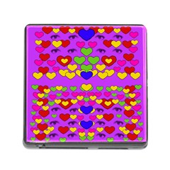 I Love This Lovely Hearty One Memory Card Reader (square) by pepitasart