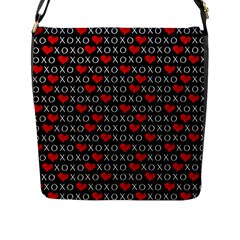 Xoxo Valentines Day Pattern Flap Messenger Bag (l)  by Valentinaart