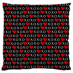 Xoxo Valentines Day Pattern Large Flano Cushion Case (one Side) by Valentinaart