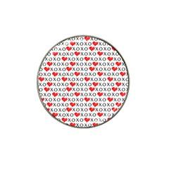 Xoxo Valentines Day Pattern Hat Clip Ball Marker by Valentinaart