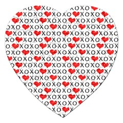 Xoxo Valentines Day Pattern Jigsaw Puzzle (heart) by Valentinaart