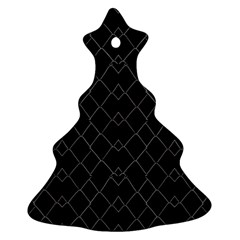 Black And White Grid Pattern Ornament (christmas Tree)  by dflcprints