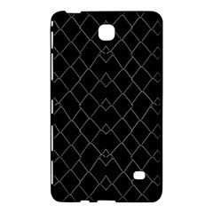 Black And White Grid Pattern Samsung Galaxy Tab 4 (7 ) Hardshell Case  by dflcprints