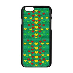Love Is In All Of Us To Give And Show Apple Iphone 6/6s Black Enamel Case by pepitasart